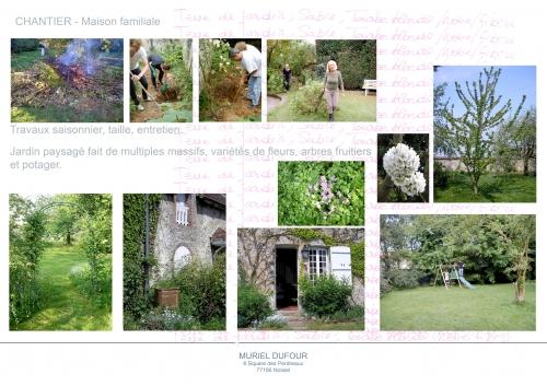 Travaux au jardin,belle maison de famille