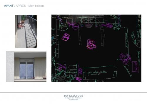 balcon,vide,notes,croquis